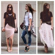 outfit perfection {the middle is my fave but i love them all} | image via free people fp me