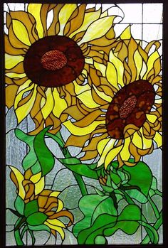 ...gorgeous sunflower stained glass...