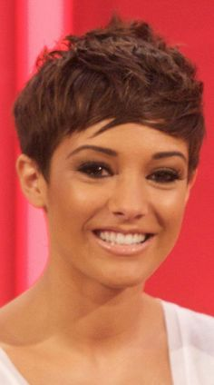 Frankie Sandford Goes For A Short And Sassy Hairstyle For Lorraine Live TV, 2011
