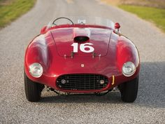 Alberto Ascari drove this beautiful Works 1950 Ferrari America Barchetta by Scaglietti in the 1950 Mille Miglia. Classic Sports Cars, Classic Cars, Motocross Championship, Royce Car, Car Head, Engines For Sale, Thing 1, Best Muscle Cars, Vintage Race Car
