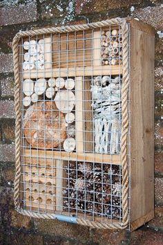 Bug Box, bug house photograph by Dave Kilbey Photography Garden Crafts, Garden Projects, Garden Art, Herb Garden, Bug Hotel, Garden Bugs, Garden Insects, Mason Bees, Sensory Garden