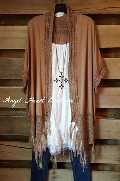 Over The River Cardigan - Mocha - Angel Heart Boutique - Cardigan - Angel Heart Boutique  - 1x/2x