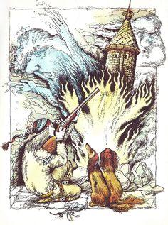 """Norwegian fairy tale"" Illustrator Katerina Shtanko.  Year: 1986. Publisher: Veselka"
