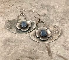 Earrings Photo, Drop Earrings, Opal Necklace, Rustic Design, Metal Jewelry, Sterling Silver Necklaces, Earrings Handmade, Blue Denim, Vintage Items