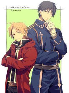 Fullmetal Alchemist, Edward Elric and Roy Mustang