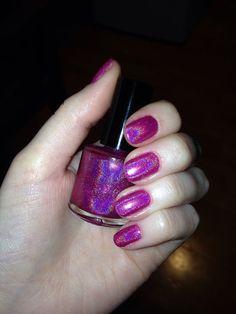 Hot+Pink+Ultra+Holographic+Nail+Polish,+Spectraflair+Indie+Nail+Polish,+£6.50
