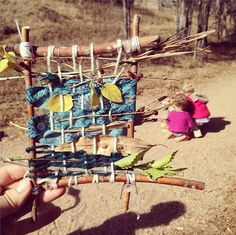 Forest school weaving