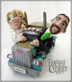 Semi Custom Wedding Cake Topper  Deposit Only by RaegansCreations, $150.00