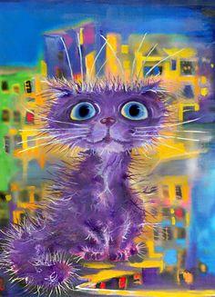 """Purple Cat"" par Boris Kassianov"
