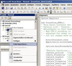 Word macro for clean HTML code - Page 2 Microsoft, Html Code, Visual Basic, Coding, Cleaning, Words, Home Cleaning, Horse, Programming