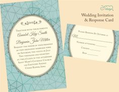 Affordable Custom Wedding Invitation by EmDesign  #emdesignia
