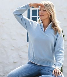 Woman & Art: Lambswool Trimmed Girly Zip Sweater