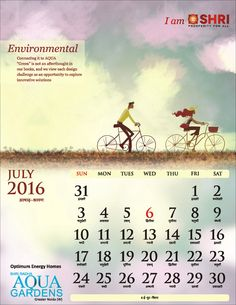 """ENVIRONMENTAL Connecting it to AQUA """"Green"""" is not an afterthought in our books, and we view each design Challenge as an opportunity to explore Innovative Solutions #IamSHRI #Calendar2016"""