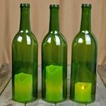 Option for lighting on the tables...We all know I have enough wine bottles to make this...