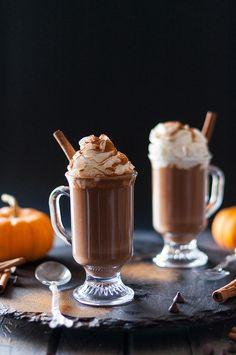 Pumpkin Cinnamon Spice Hot Dark Chocolate