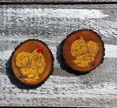 2 Original Cochin Chicken Magnets Chicken by TheChickenStudio