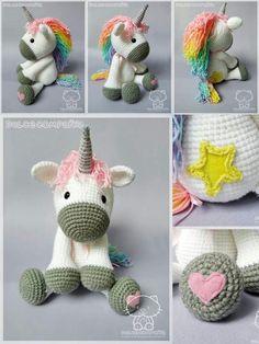 Unicorn [CROCHET FREE PATTERNS] I hope you have enjoyed this beautiful crochet, the free pattern is HEREso you can make a beautiful crochet. Good job! - Salvabrani