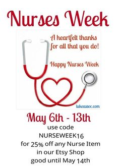 This and that happy nurses week and a free printable free visit our etsy shop for great nurse bracelets saigontimesfo