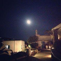 Full moon over Leonis Summer Houses  June 23rd 2013  Leonis Summer Houses  Mykonos Greece welcome@leonis.gr  www.leonis.gr