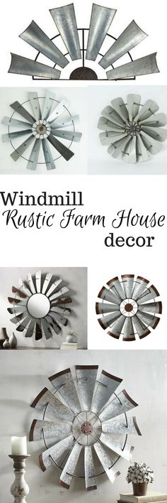 great collection of windmill inspired rustic farmhouse decor. #homedecor #farmhouse #rustic #ad #affiliate #windmill