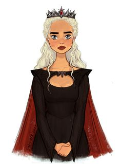 """Game of Thrones - Daenerys Targaryen """"she is the queen we chose."""" by Saliha - and we will always remember her as such. Daenerys Targaryen Art, Game Of Throne Daenerys, Khaleesi, Dessin Game Of Thrones, Game Of Thrones Books, Emilia Clarke, Eddard Stark, Game Of Thones, Dire Wolf"""