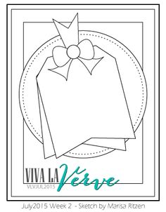 Viva la Verve Sketches: Viva La Verve July 2015 Week 2 Sketch by claudette Scrapbook Sketches, Card Sketches, Scrapbook Cards, Sketch 2, Scrapbooking Ideas, Card Making Inspiration, Making Ideas, Card Making Templates, Cricut Cards