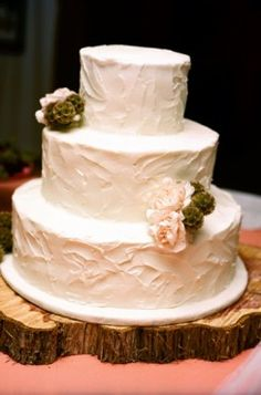 simple southern wedding cake