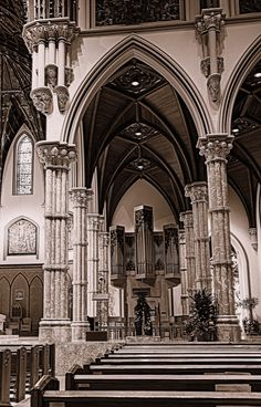 Holy Name Cathedral in sepia by Linda Edgecomb, via 500px