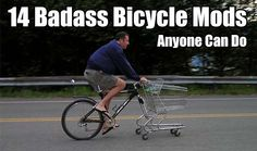 14 Badass Bicycle Mods Anyone Can Do, life hack, survival bike, life mod, bike mod, diy bike mod, awesome projects, bicycle projects,
