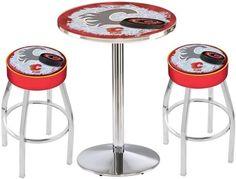 Calgary Flames NHL Chrome Pub Table Set
