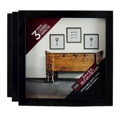 Studio Décor® Shadowbox, Black 3 Pack