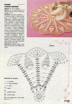 Luty Artes Crochet: Toalhas para o centro da mesa em crochê + Gráficos.