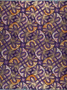 VLA2232.022.06 / Golden Embellished Super-Wax Fabric