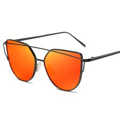 827325c6d7 2017Future Cat eye Women men Sunglasses New Brand Designer Mirror Flat Rose  Gold Vintage Cateye Fashion sun glasses uv400 female – Frame Color  Multi