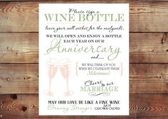 Printable Sign a Wine Bottle Wedding Guestbook Digital File