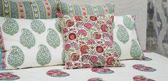 Bed & Bath Collections - Hand block printed cotton bed covers, quilts, pillows & dohars and marble bathroom accessories | Goodearth.in
