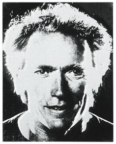 Andy Warhol, Clint Eastwood, c1984, acrylic and silkscreen ink on canvas, 51 by 40.5cm