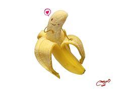 Banana Ilustración de Melissa Ballesteros