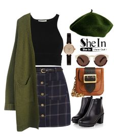 Feeling Green by khriseus on Polyvore featuring polyvore, fashion, style, Jonathan Simkhai, Burberry, Barbour, Illesteva and ootd