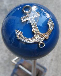 HouseOspeed - Hot Rod Shift Knob - Large Blue Rhinestone Anchor Shift Knob, $55.00 (http://www.hotrodshiftknob.com/large-blue-rhinestone-anchor-shift-knob/)