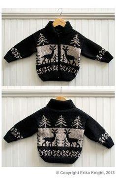 Erika Knight Reindeer Jacket | Deramores free pattern
