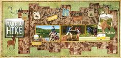 BoBunny: Take A Hike 2 Page Layout Kit! Come check out the blog for more details. #BoBunny