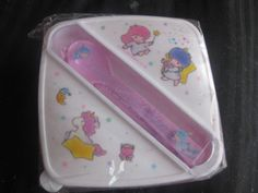 Sanrio Hello Kitty Vintage 1976 Little Twin Stars Plastic Lunch Container Set #Sanrio