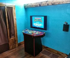 """This will show you how I constructed my 4 player MAME pedestal cabinet. There are a lot of things you may want to customize to your liking. I will show you how i made mine, you can feel free to tweak it to your liking. This houses a standard windows PC to run the MAME arcade emulator, and outputs to a 42"""" LCD TV."""