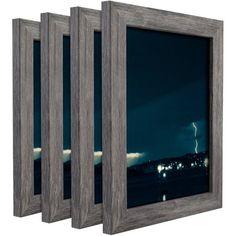 Craig Frames Bauhaus Modern Gray Picture Frame, Set of 4