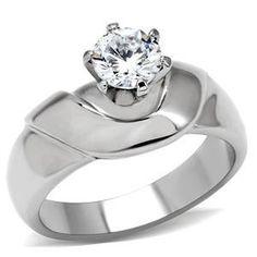 Size 8 Clear Round Cut Cubic Zirconia Women's Stainless Steel Ring, http://www.amazon.ca/dp/B00EEHMLVG/ref=cm_sw_r_pi_awd_UXUJsb1Q4QEZ7