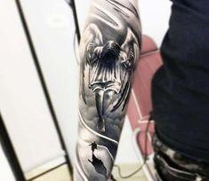 Angel on a Swing tattoo by Bejt Tattoo