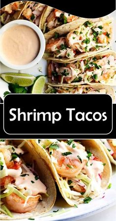 Shrimp Tacos >> – Famous Last Words Shrimp Tacos, Shrimp Taco Recipes, Roast Chicken Recipes, Sausage Recipes, Potato Recipes, Fish Recipes, Mexican Food Recipes, Great Recipes, Dinner Recipes