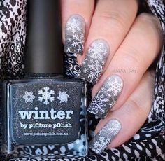 piCture pOlish = 'Winter + LakoDom' worn by nina_d83 LOVE ❄️❤️❄️ www.picturepolish.com.au