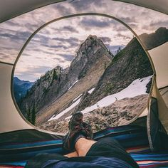 A gorgeous tent view in British Columbia   Photo by @mattglastonbury  Tag someone you'd share this tent with!